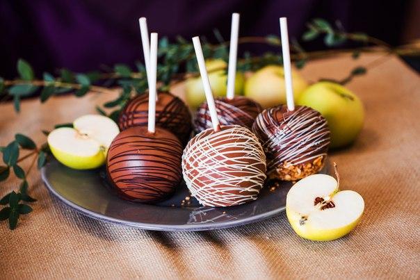 Рецепты десертов из яблок и шоколада