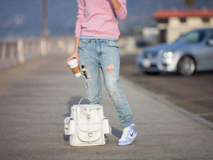 как отбелить бежевые джинсы
