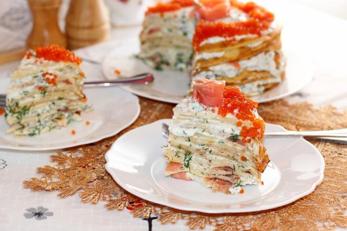 Блинный салат – украшение праздничного стола