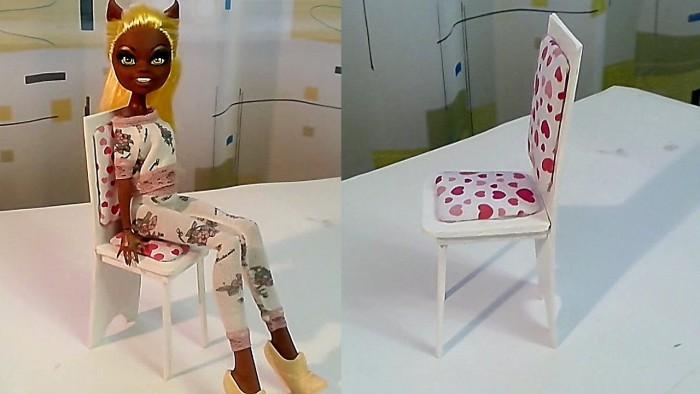 Стул для куклы своими руками: пошаговая инструкция