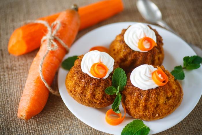 Морковные маффины – вкусная овощная выпечка