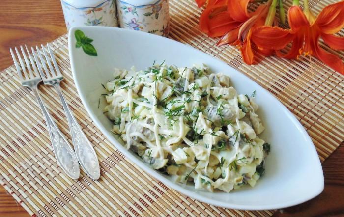 Салат из шампиньонов и куриной грудки: рецепты и секреты приготовления