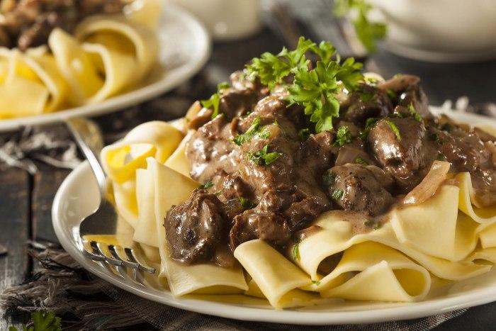 Как приготовить бефстроганов из говядины